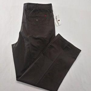 Woolrich Pants - Woolrich Men's Size 40 Brown Flat Front Straight L